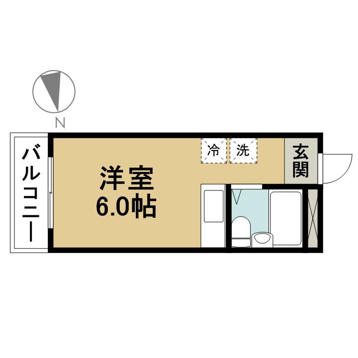 第5荒井マンション 302号室 間取り