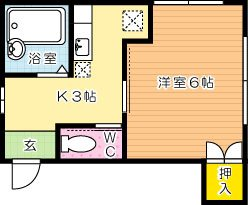 ガーネットホーム 206号室 間取り