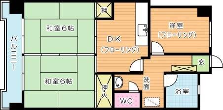 第8岡部ビル 605号室 間取り