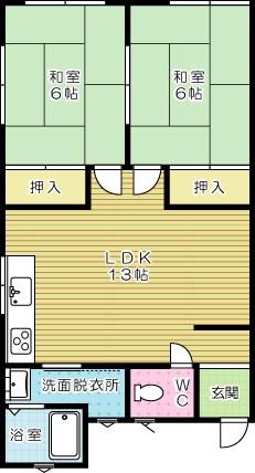 コーポ野田  201号室 間取り