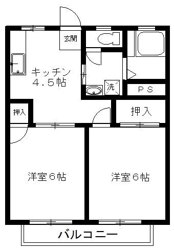 サンシティ・ヨシダ 302号室 間取り