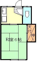 北戸荘 201号室 間取り