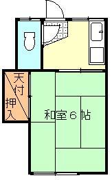 北戸荘 102号室 間取り