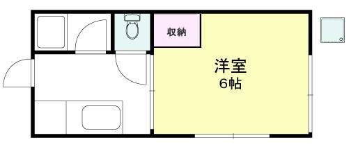 田中ハイツ X01~X05号室 間取り