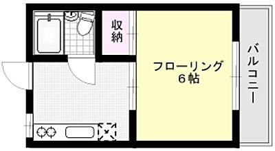 コーポ横山 X01~X11号室 間取り