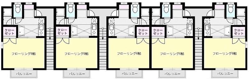 藤井ハイツ X01~X06(2F)号室 間取り