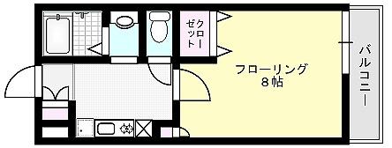 ガーデンヒルズⅡ 105~108号室 間取り