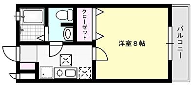 ビームⅡ X01~X07号室 間取り