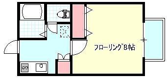 フォレストコート X01~X05号室 間取り