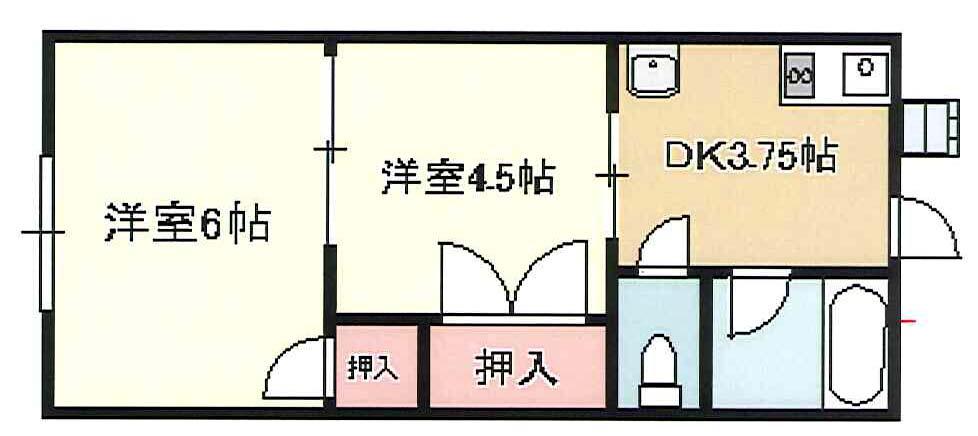 クアトロ東深井 X01~X02号室 間取り
