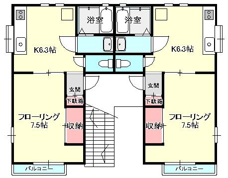 HODAKA Canal 10 間取り図