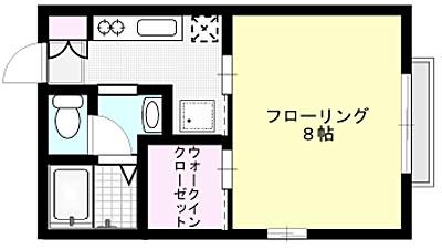 ウィズダム X01~X03号室 間取り