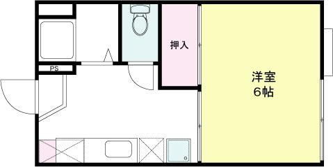 ジュピター山崎 X01~X02号室 間取り