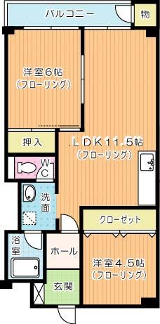 第5共立ビル 408号室 間取り