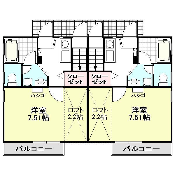 HODAKA Canal 11 X01~X02(1F)号室 間取り