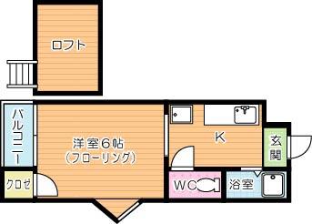 アップルハウス葉山 学生号室 間取り