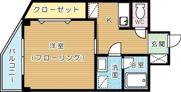 矢島ビル 403号室 間取り