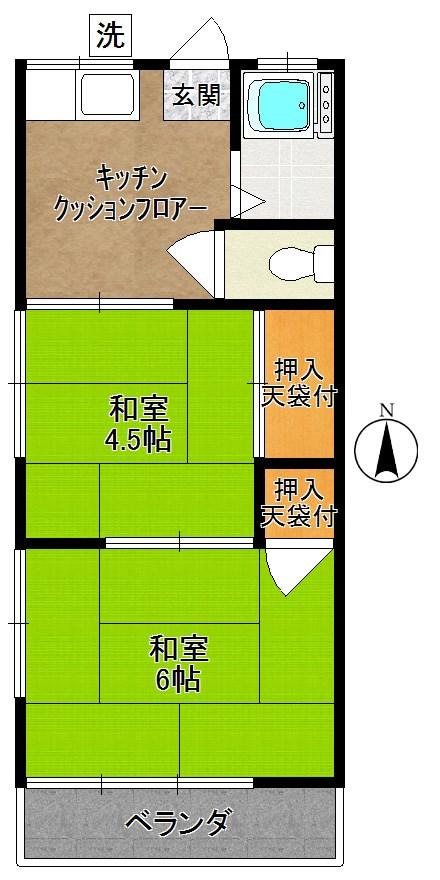 第2矢沢荘 間取り図