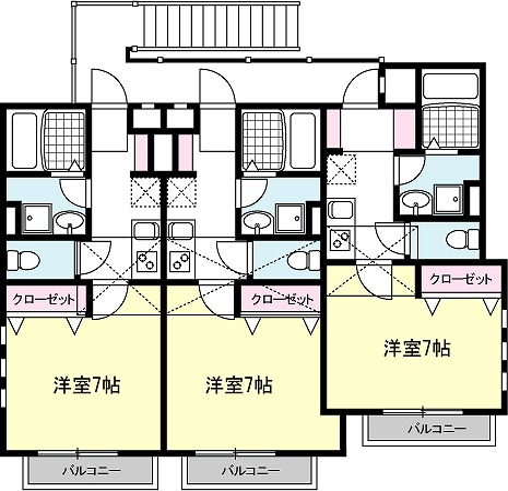 HODAKA Canal 12 X01号室 間取り