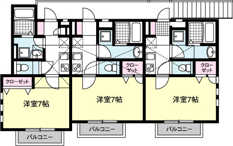 HODAKA Canal 13 X01~X02号室 間取り