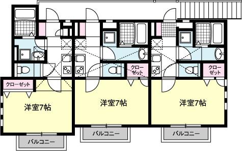 HODAKA Canal 13 X03号室 間取り