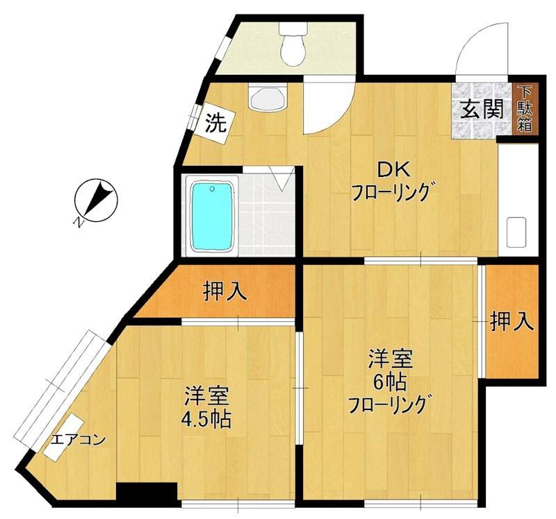 第1広田マンション 501号室 間取り