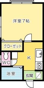 ハイツ大田町 201号室 間取り