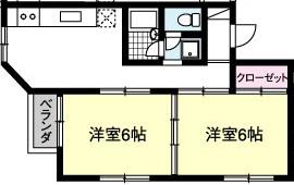 YKハイツ X05(1F)・X06(2F)号室 間取り
