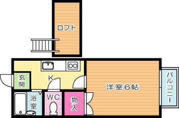シャトレ藤松 201号室 間取り