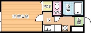 MOON朝日ヶ丘B 105号室 間取り