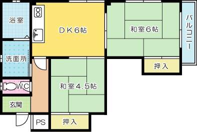 片野マンション 203号室 間取り