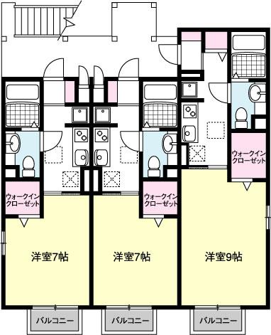 HODAKA Canal 15 X02号室 間取り