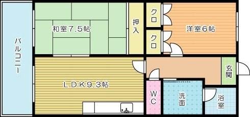 ラ・クーレⅢ 303号室 間取り