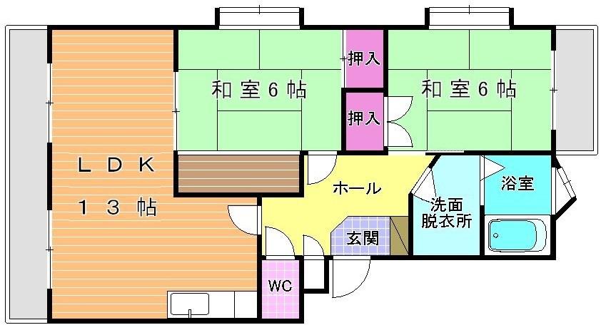 ハイコーポ依田3号館 102号室 間取り