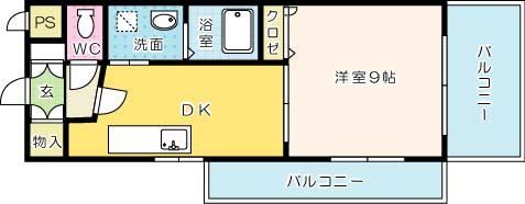 ギャラン吉野町 406号室 間取り