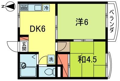フラット新高円寺 202号室 間取り