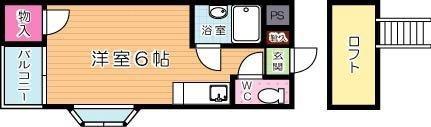 リバーサイドハウス  203号室 間取り