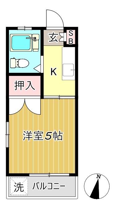アバンセ経堂 103号室 間取り