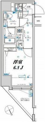 大田区大森北1丁目楽器可(ピアノ・弦管打楽器・声楽)デザイナーズマンション 間取り