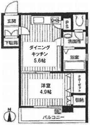 豊島区池袋3丁目楽器可(ピアノ・弦楽器)分譲マンション 間取り