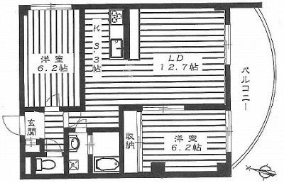 世田谷区喜多見8丁目楽器可(ピアノ)マンション 間取り