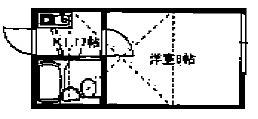 調布市佐須町1丁目楽器可(防音・ピアノ・弦・管楽器・声楽)アパート 間取り