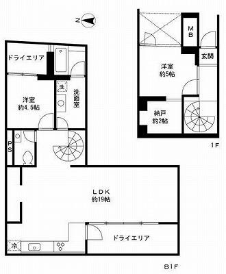 世田谷区駒沢5丁目楽器可(ピアノ・弦管打楽器・声楽)マンション 間取り