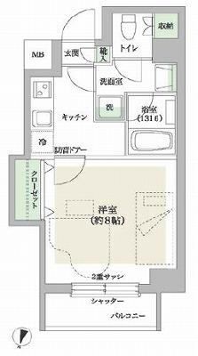 世田谷区太子堂2丁目楽器可(防音・ピアノ・弦管楽器・声楽・DTM)マンション 間取り