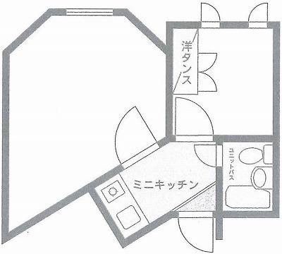 新宿区中落合4丁目楽器可(ピアノ・弦管楽器・声楽・DTM)マンション 間取り