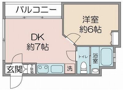 新宿区四谷坂町楽器可(防音・ピアノ・弦・管楽器・声楽)マンション 間取り