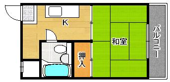 207号号室 間取り
