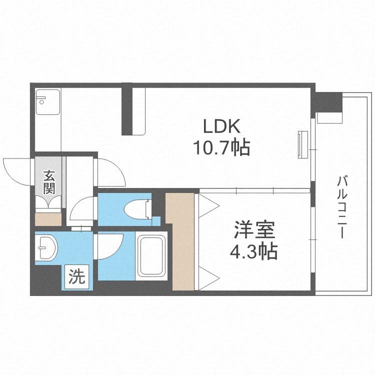 コンダクト福岡東 522号室 間取り