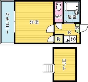 KIYOMIZUⅢレジデンス 203号室 間取り