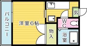 シャンポール観音寺 201号室 間取り